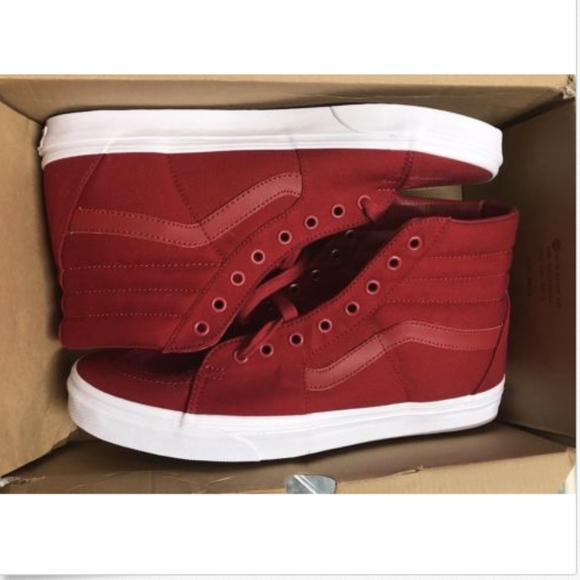 9e374980a23ef4 Vans SK8 HiReissue Mono Canvas Chili Pepper Shoes+